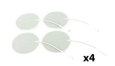 Axelgaard Valutrode X 2 in Round White Foam Backed - 16 Pads