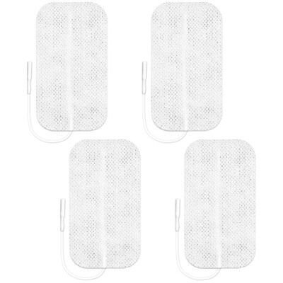 Axelgaard Valutrode 2 x 3.5 in Square White Fabric Backed - 4 Pads