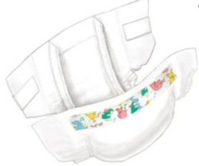 Baby Diaper Curity Ultra FITS Tab Closure Size 1 Disposable Heavy Absorbency