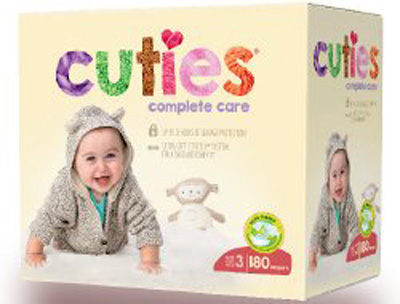 Baby Diaper Cuties Complete Care Tab Closure Size 3 Disposable Heavy Absorbency