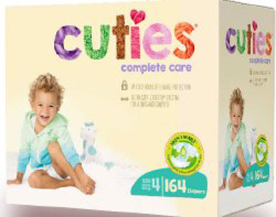 Cuties Complete Care Baby Diaper Tab Closure Size 3 Disposable Heavy Absorbency - CCC14 - Case of 164