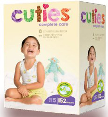 Cuties Complete Care Baby Diaper Tab Closure Size 3 Disposable Heavy Absorbency - CCC15 - Case of 152