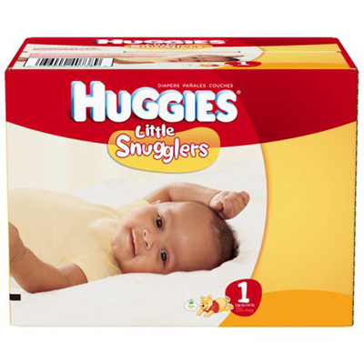 Baby Diaper Huggies Little Snugglers Tab Closure Size 1 Disposable Heavy Absorbency
