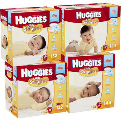 Baby Diaper Huggies Little Snugglers Tab Closure Size 3 Disposable Heavy Absorbency