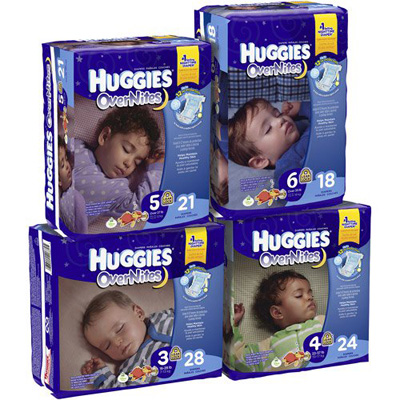 Baby Diaper Huggies Overnite Tab Closure Size 4 Disposable Heavy Absorbency