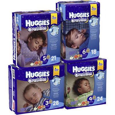 Baby Diaper Huggies Overnite Tab Closure Size 5 Disposable Heavy Absorbency