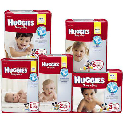 Baby Diaper Huggies Snug & Dry Tab Closure Size 1 Disposable Heavy Absorbency - 40653