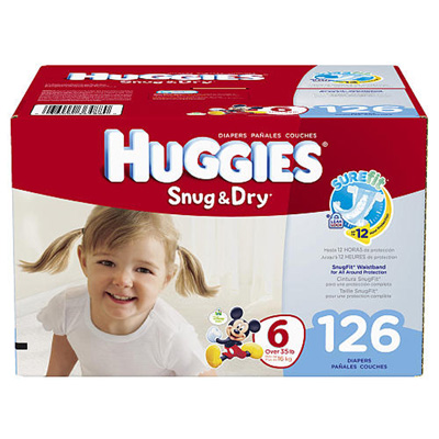 Baby Diaper Huggies Snug & Dry Tab Closure Size 6 Disposable Heavy Absorbency