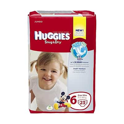 Baby Diaper Huggies Snug & Dry Tab Closure Size 6 Disposable Heavy Absorbency - 40674