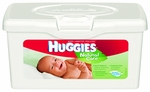 Baby Wipe Huggies Natural Care Tub Aloe Unscented 64 Count