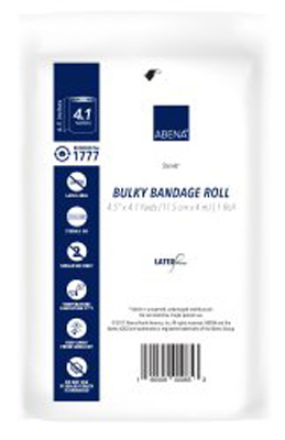 Abena Bandage Roll Gauze 6-Ply 4-1/2 Inch X 4.1 Yard Roll Sterile - 1777 - Case of 100