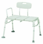 Bariatric Bath Transfer Bench Merits Health Products 16 to 21 Inch 500 lbs. Adjustable Arm