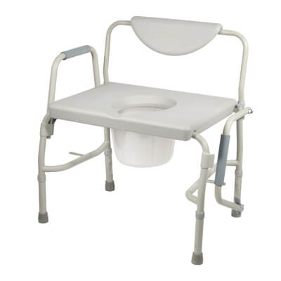 Drive Medical Bariatric Drop Arm Bedside Commode Chair 11135-1