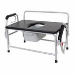Drive Medical Bariatric Drop Arm Bedside Commode Seat Model 11132-1