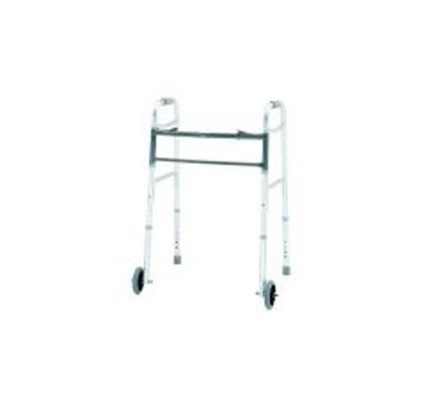 Bariatric Dual Release Folding Walker Adult Aluminum 500 lbs. 32-1/2 to 39-1/2 Inch
