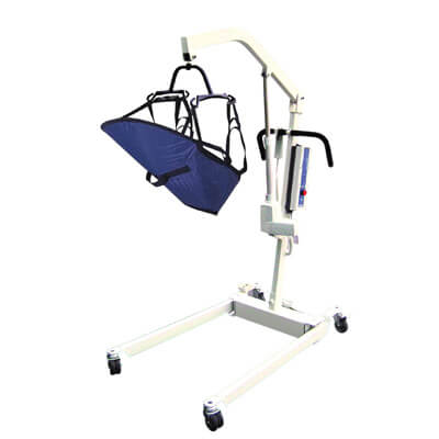 Drive Medical Bariatric Electric Patient Lift with Rechargeable Battery and Four Point Cradle Model 13244