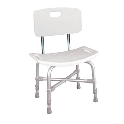 Drive Medical Bariatric Heavy Duty Bath Bench with Back Model 12021kd-1