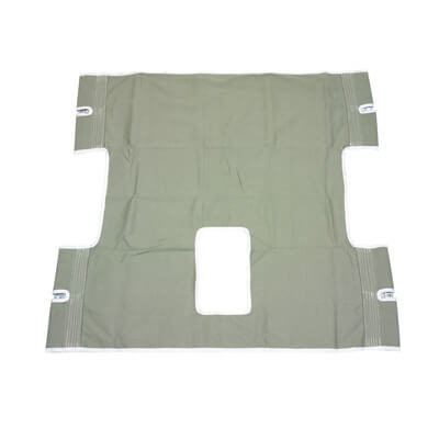 Drive Medical Bariatric Heavy Duty Canvas Sling with Commode Cutout 13061