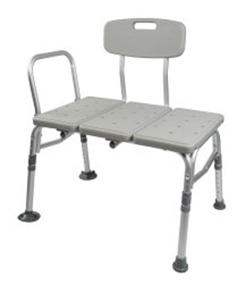 Bath Transfer Bench McKesson 17.5 to 22.5 Inch 400 lbs. Removable Arm Rail