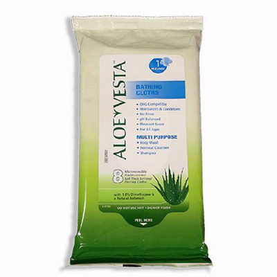 Bath Wipe Aloe Vesta Soft Pack Dimethicone Scented 8 Count