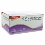BD Ultra-Fine Insulin Syringes 30 Gauge 0.3 cc 1/2 inch - 90 ea