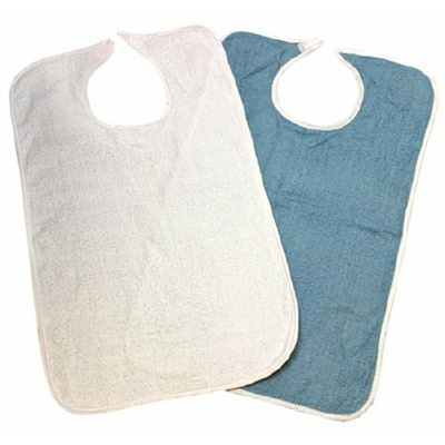Beck's Classic Terry Adult Bib Hook and Loop Closure Reusable Terry Cloth
