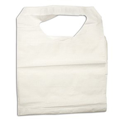 Dynarex Bib Tie Closure Disposable Poly / Tissue - 4405 - Case of 300