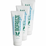 Biofreeze Pain Relieving Gel Tube 4 oz (Pack of 3) March 2018