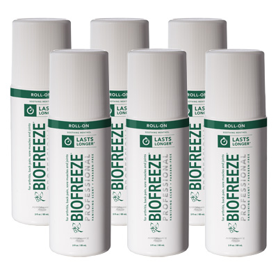 Biofreeze Professional Gel, Green Roll-On - 3 oz - 6 Pack
