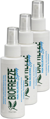 Biofreeze Pain Relieving Spray - 4 oz (Pack of 3) # BUSASN04-001