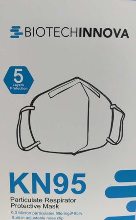 Biotechinnova KN95 Particulate Respirator Protective Masks (5 Pack) - Model TMD-KN95