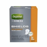Depend Guards for Men Bladder Control Pad Light Absorbency Absorb-Loc Male Disposable - Case of 174