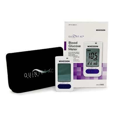 Blood Glucose Monitoring System QUINTET AC 5 Seconds Stores Up To 500 Results Automatic Coding