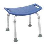 Drive Medical Blue Bathroom Safety Shower Tub Bench Chair 12203kdrb-1