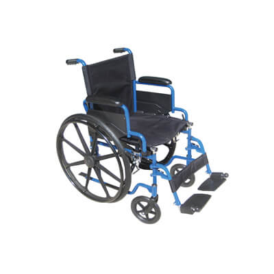 Drive Medical Blue Streak Wheelchair with Flip Back Desk Arms and Swing Away Footrest bls16fbd-sf