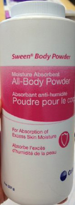 Coloplast Body Powder Sween 8 oz. Lightly Scented - Case of 36