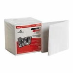 Brawny Industrial Task Wipe Medium Duty White NonSterile Double Re-Creped 12-1/2 X 13 Inch Disposable