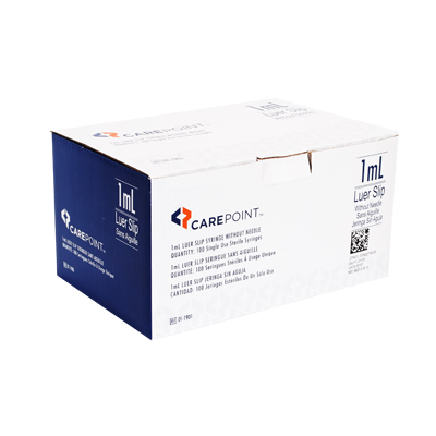 CarePoint Luer Slip without Needle 1ml 100 count 01-1901