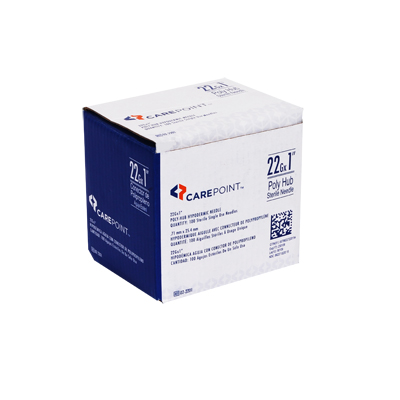 CarePoint Poly Hub Needle 22G 1 in 100 count 02-2201
