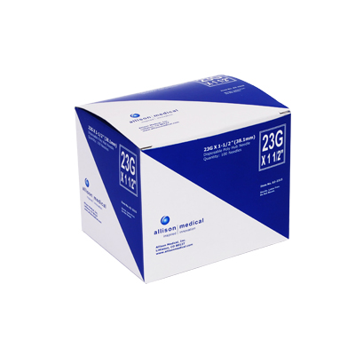 CarePoint Poly Hub Needle 23G 1 1/2 in 100 count 02-2315