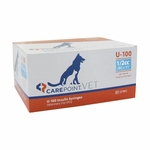 CarePoint Vet U-100 Syringes - 29 Gauge 0.5 cc, 1/2 in 100 count