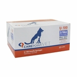 CarePoint Vet U-100 Syringes - 31 Gauge 0.3 cc, 5/16 in 100 count