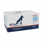 CarePoint Vet U-40 Syringes - 29 G 0.5 cc 1/2 in