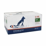 CarePoint Vet U-40 Syringes - 29 G, 1 cc 1/2 in
