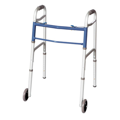 Carex Classics Dual Button Walker With Wheels