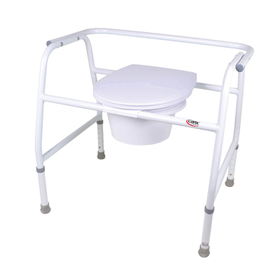 Carex Extra Wide Steel Commode B35511