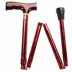 Carex Folding Designer Cane (Red)