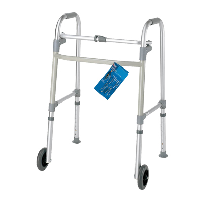 Carex Single Button Walker With 3 In Wheels A85786