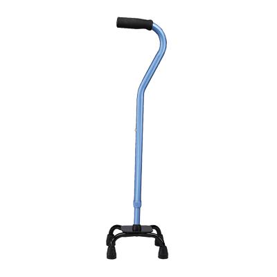 Carex Small Base Offset Quad Cane - Blue A74400