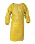 Chemical Spray Protective Gown Kleenguard A70 One Size Fits Most Unisex Yellow